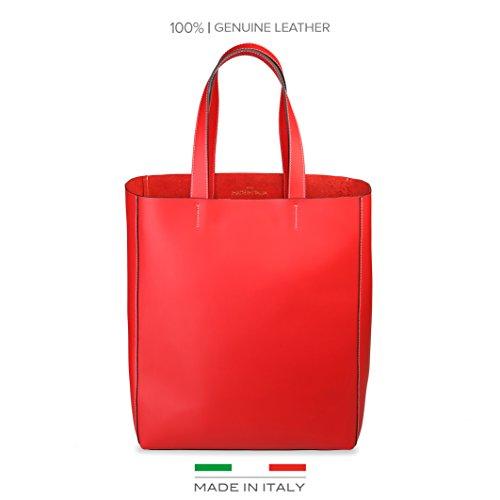 Made In Italia  Fosca, Damen Schultertasche tiefrot