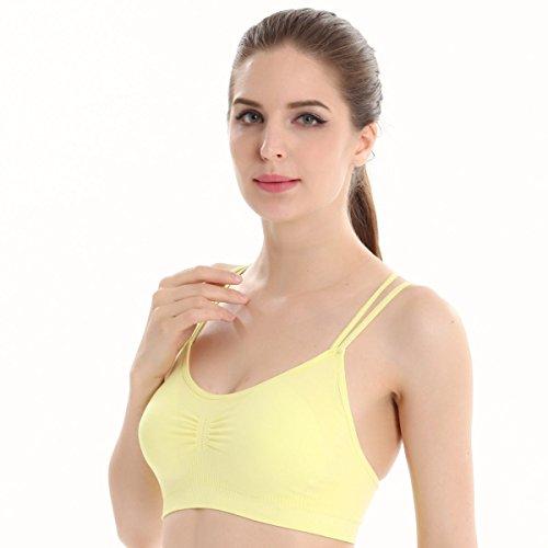 JFIN Femmes Pull Soutien-gorge Mélange De Polyester Bounce Rose Indy Pro Yellow