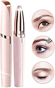 Eyebrow Hair Remover, Electric Eyebrow Trimmer Epilator for Women, Portable Painless Eyebrow Razor with Light