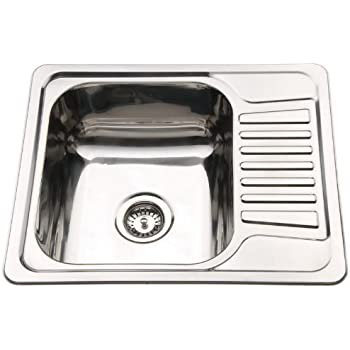 Compact Stainless Steel Inset Kitchen Sink Bowl With Drainer ...
