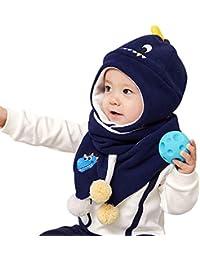 DORRISO Cappello Sciarpe Set Bambino Autunno Invernale Carina Piccolo  Cartone Animato Cappelli Berretto Bambini Infantili del 836272ca3edf
