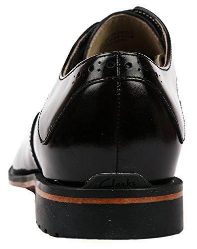 Clarks Gatley Limit, Scarpe Derby con lacci uomo Nero (Black Leather)