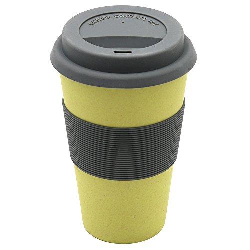 Magu 132 465 Coffee to Go Gobelet Fibre de Bambou/Bois/Fécule de Céréale Jaune 28 x 28 x 8 cm