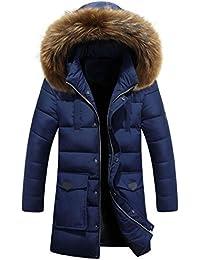 C/&H Men Casual Zip Front Puffer Outwear Down Coat Parkas Jacket