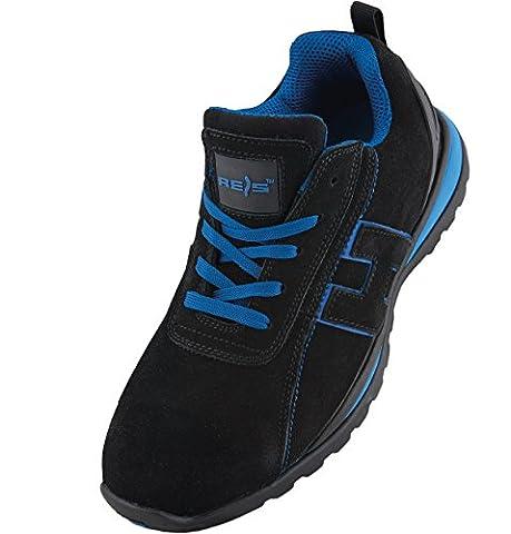 Arbeitsschuhe Sicherheitsschuhe CHILE Schuhe Gr.36-48 Schutzschuhe Stahlkappe (42), Schwarz Blau