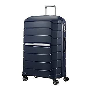 SAMSONITE Flux - Spinner 75/28 Expandable Suitcase, 75 cm, 121 liters, Blue (Navy Blue)