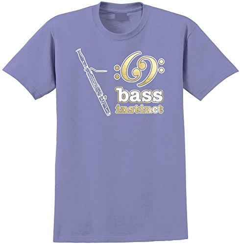 Bass Instinct - Violett T Shirt Größe 81cm 32in Med 9-11 Jahr ()
