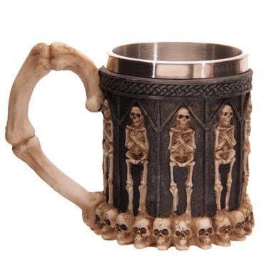 Creativi 3d scheletro viso terrore Teschio tazza acciaio inossidabile resina teschio tazze Ghost-Kopf