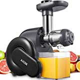 Juicer, Slow Masticating Juice Extractor with Reverse Function, Aicok Cold Press Juicer