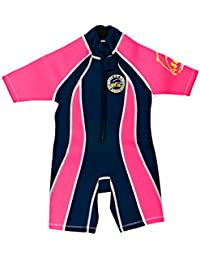 Surfit Girls Front Facing Shorty Wetsuit Navy/Pink 2-3 Years