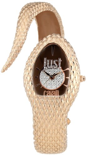 Just Cavalli Poison Women's Quartz Watch with Brown Dial Analogue Display and Pink Stainless Steel Strap R7253153501