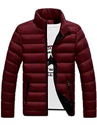 Hombres Caliente abrigo invierno chaqueta abajo Abrigo acolchado Código grande Algodón abrigo Rojo XXL