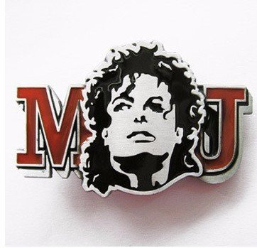 Preisvergleich Produktbild western new Buckle belt cowboy gurtelschnallen Michael Jackson roten Initialen Bild-