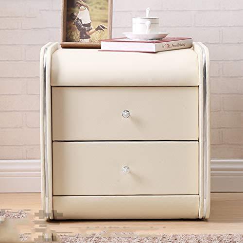 RUNWEI Nachttischspind Leder Mit Schubladenfach (Color : B)