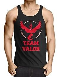 CottonCloud Team Valor Herren Tank Top Rot Red Wagemut