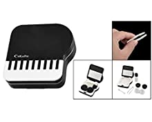foopp Klaviertasten Kontaktlinsenbehälter (schwarz und weiß)