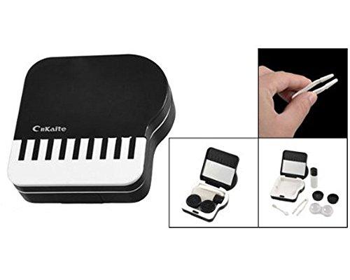 foopp Klaviertasten Kontaktlinsenbehälter (schwarz und -