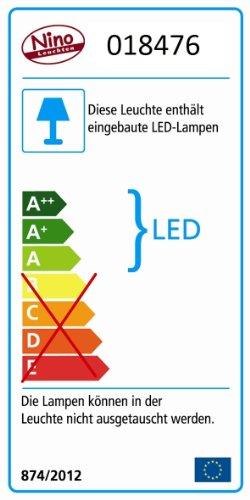 Nino Leuchten LED-Clip 2-er Set/weiß/mit Handschalter, Zuleitung 150 cm, Adapter 79062021