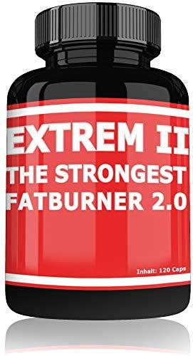 Fat Burner Extreme by Varg Power | 120 Kapseln Hochdosiert | Schnell abnehmen für Männer und Frauen | Diät Tabletten ohne Sport | Fettverbrenner Pillen -
