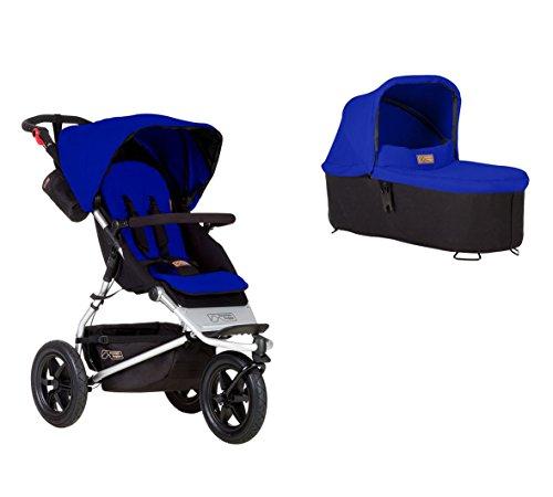 Mountain Buggy Urban Jungle Kinderwagen + Carrycot Babywanne marine blau