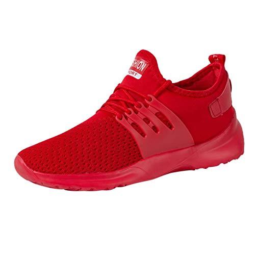 Zapatillas de Deporte Unisex Adulto Zapatillas de Running para Hombre Transpirables Sneakers de Cordones...