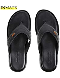04ad7d35d09e INMATE Men s Comfortable Black Colour Classic Flip-Flops Thong Casual  Slippers   100%