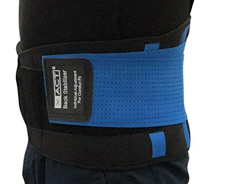 scarlet health   Rückengurt »XACT« zur Stabilisierung & Haltungskorrektur; lindert Schmerzen; für Damen und Herren; Größen S - XXL (Blau, XXL)
