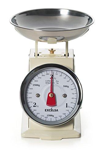 excèlsa Vintage Crème Balance de cuisine 3 kg/10g