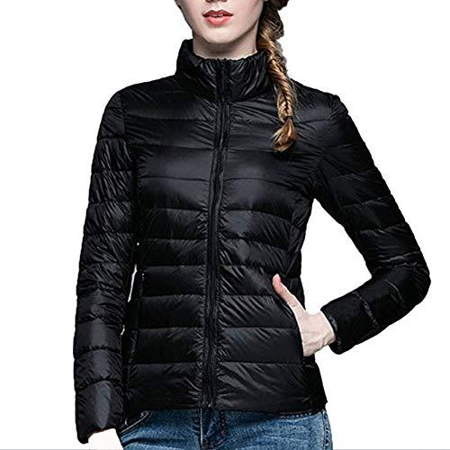 njacke Winter Übergangsjacke - Damen Steppjacke Mantel Stehkragen Packbar Kugelfisch Ultraleicht Kurz Outwear ()