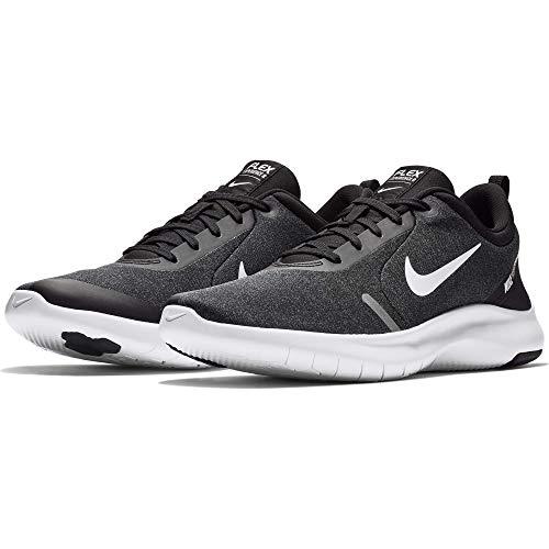 Nike Herren Flex Experience RN 8 Laufschuhe, Schwarz (Black/White/Cool Grey/Reflect Silver 013), 44 EU