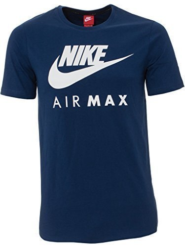 Nike - T-shirt - Collo a U - Maniche corte - Uomo, Navy, X-Large,Navy