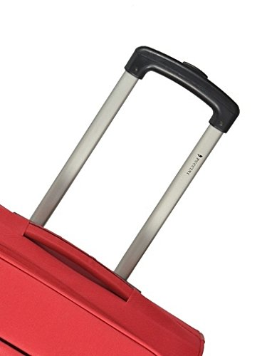 Koffer Reisekoffer Puccini Camerino 52x36x20 cm (schwarz) rot