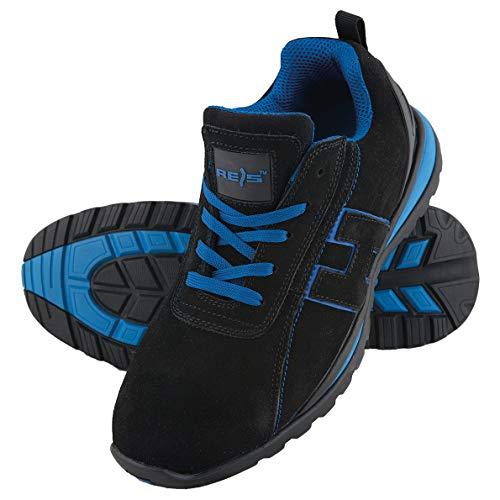 Scarpe da lavoro scarpe antinfortunistiche Chile, taglia 36 – 48 Scarpe punta in acciaio, nero (nero/blu), 43