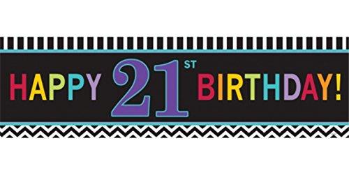 amscan Happy 21st Birthday Riesen-Banner, 165 cm x 50,8 cm