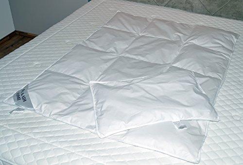 Kinderbettdecke Daunendecke Bettdeckenset Kinderset Bettdecke Daunendecke mit Kissen 100x135 cm 100% Natur