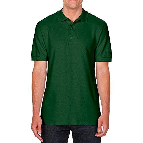 Gildan Herren Premium Double Piqué Polo Forest Green