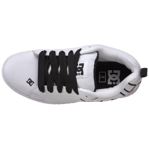 DC Shoes Court Graffik, Chaussures de skate homme White/Black/White