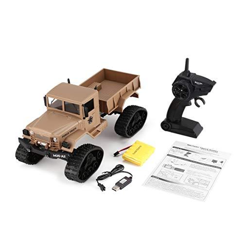 Kongqiabona fy001b 2.4 ghz 1/16 4wd caterpillar off-road rc militare camion climber crawler rc auto con luce anteriore per il regalo giocattolo per bambini