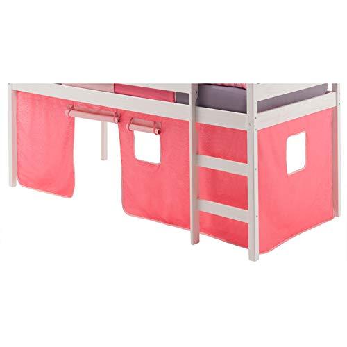 IDIMEX Spielvorhang Bettvorhang zu Hochbett Rutschbett in 4 Farben