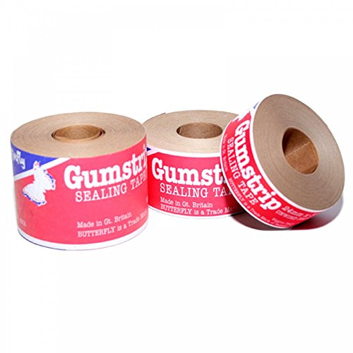 Gumstrip Schmetterling Traditionelle Tape, braun, 48mm x 35m (Paper Butterfly)