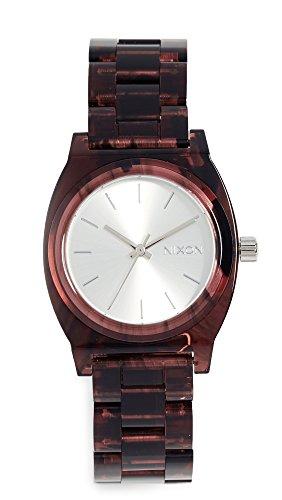 Nixon - Reloj de pulsera para mujer, tamaño mediano, 35 mm, color rojo, talla única