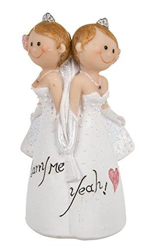 """Hochzeitspaar lesbisch - Figuren lustig - Hochzeitsfigur """"Weibliches Brautpaar"""" ~"""