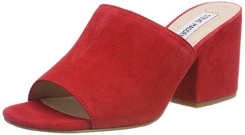 Steve Madden Damen Dalis Sandal Pantoletten, Rot (Red), 40 EU (Leder Mules Toe Open)