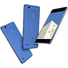"""Elephone C1 Mini - Smartphone Libre 4G de 5"""" HD (Carcasa de metal, vidrio curvado 2.5D, Android 6.0, 16GB ROM+1GB RAM, 4 núcleos MTK6737, lector de huellas dactilares), azul"""