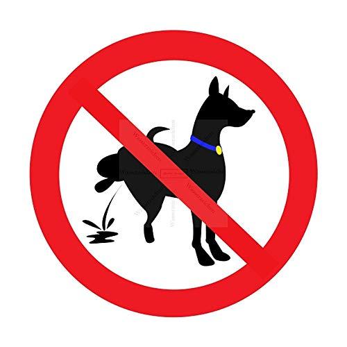 Sticker-Designs 15cm!2Stück!Aufkleber-Folie Wetterfest Made IN Germany Hunde pinkeln verboten S149 Jahre haltbar UV&Waschanlagenfest Vinyl-Sticker Profi Qualität - Hund Tür Garage