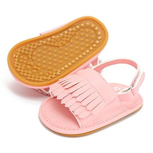 Yogogo - Sandales - bébé - Tassel Princess Première Walkers - Chaussures Filles - Prewalker (13, Or) Rose