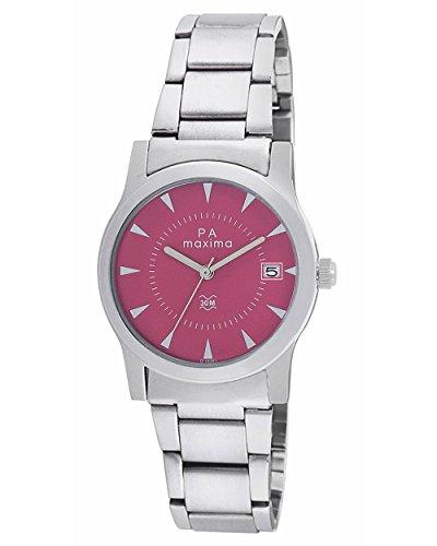 Maxima Attivo Date Pink Dial Women -O-46761CMLI