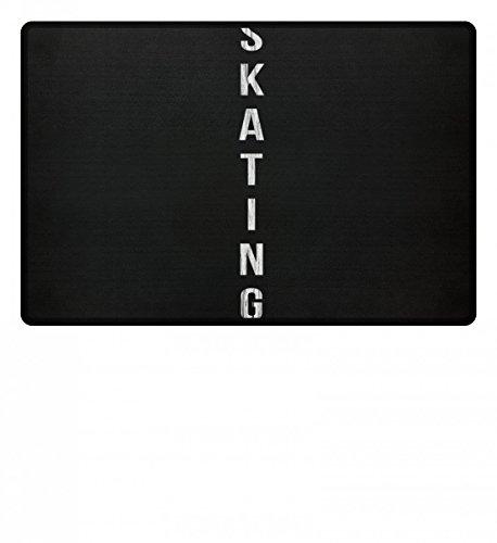 Hochwertige Fußmatte - Skating - Für alle leidenschaftlichen Skaterinnen und Skater - Dein Skateboard und Du! Rückendruck!