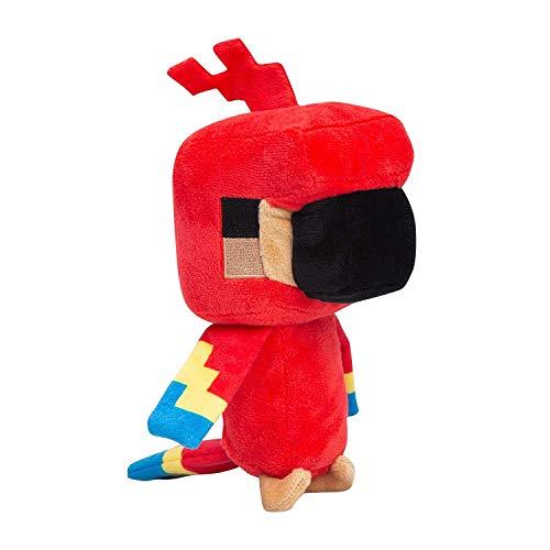 Minecraft- Peluche Loro Explorador, Color Rosso (JNX 889343107207)
