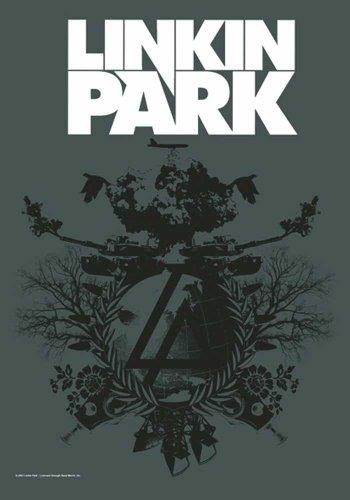 Linkin Park Bandiera-Piano B-Bandiera Poster 100% poliestere Dimensioni 75x 110cm